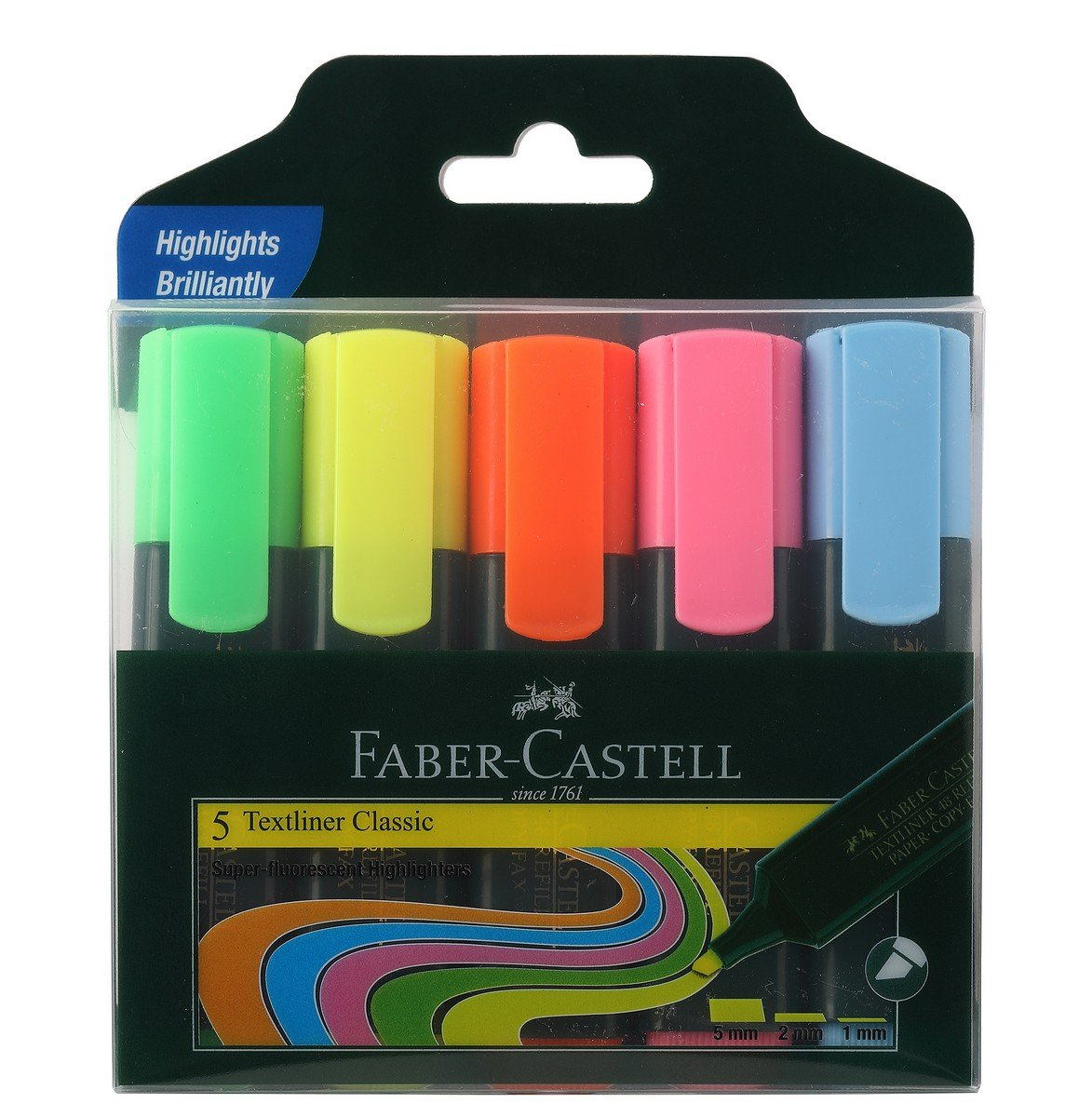 Faber-Castell Textliner - Pack of 5 (Assorted) product image