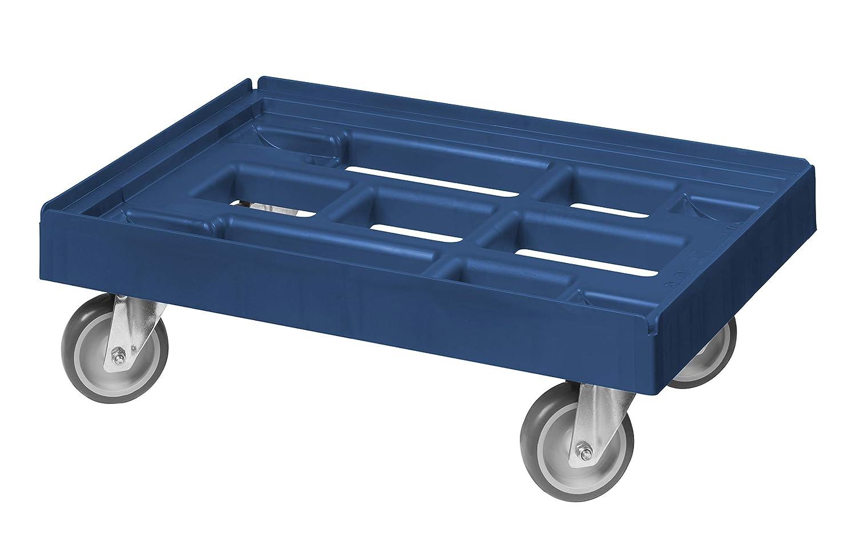 5 St/ück Transportroller f/ür Kisten 60 x 40 cm mit 4 Lenkrollen in blau