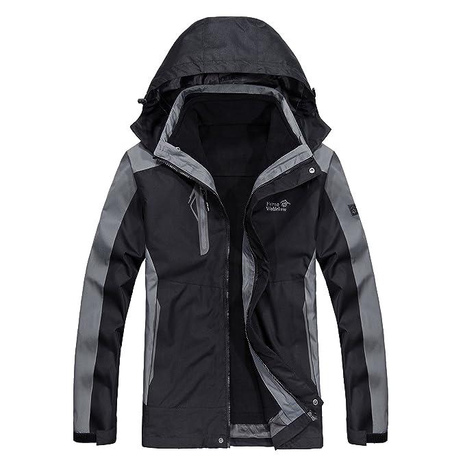 Amazon.com: Chaqueta de esquí impermeable para hombre ...