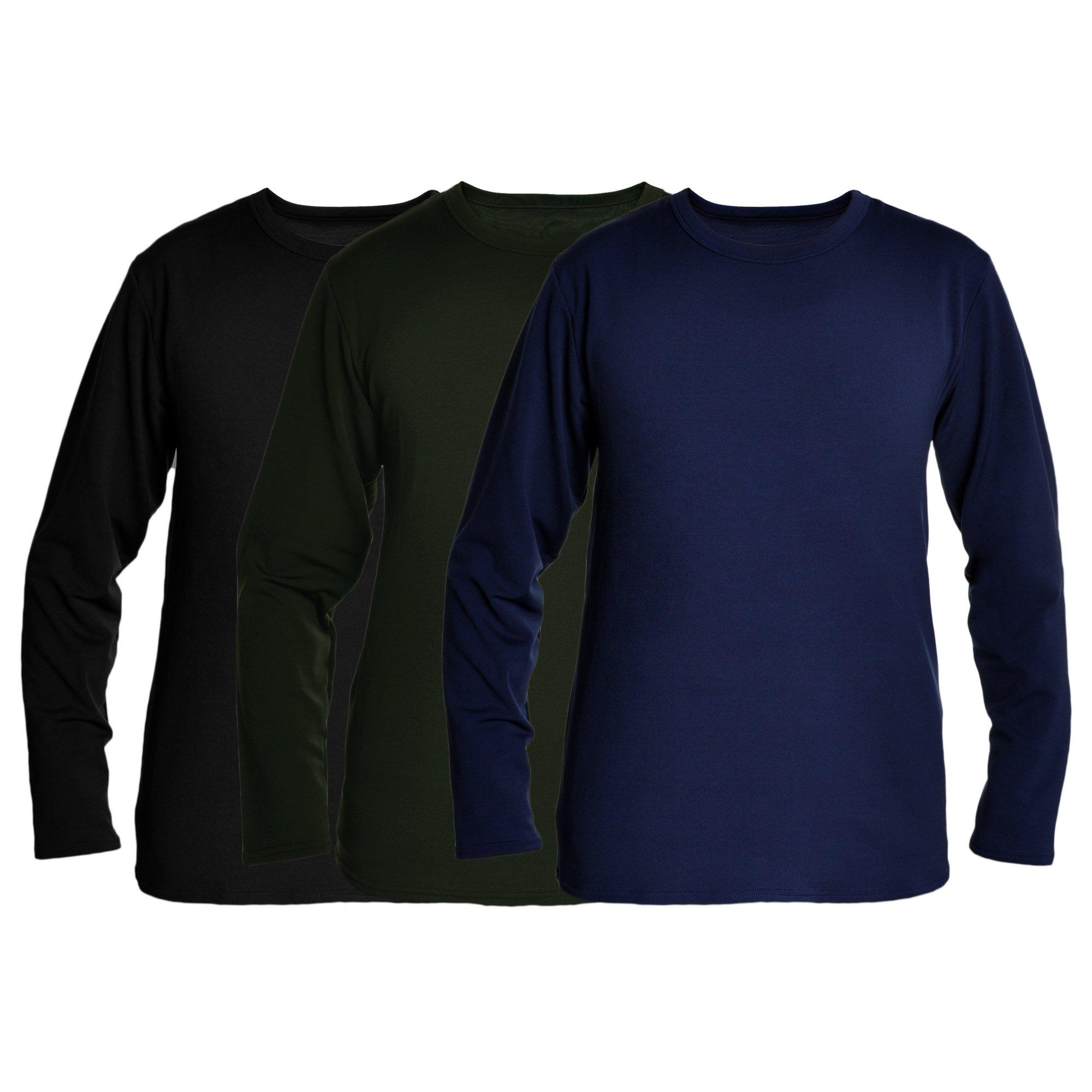 Swan Men's Fleece-Lined Long-Sleeve Thermal Tops #8915_D-BGN_M