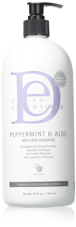 Design Essentials Peppermint & Aloe Therapeutics Anti-Itch Shampoo Control Sclap Flaking & Itching - 32 Oz