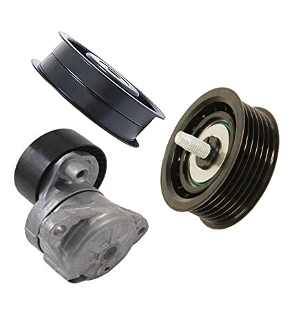 Amazon.com: Drive Belt Tensioner + Idler Pulley Set 3 for Mercedes W221 W164 W211 R171 W203: Automotive