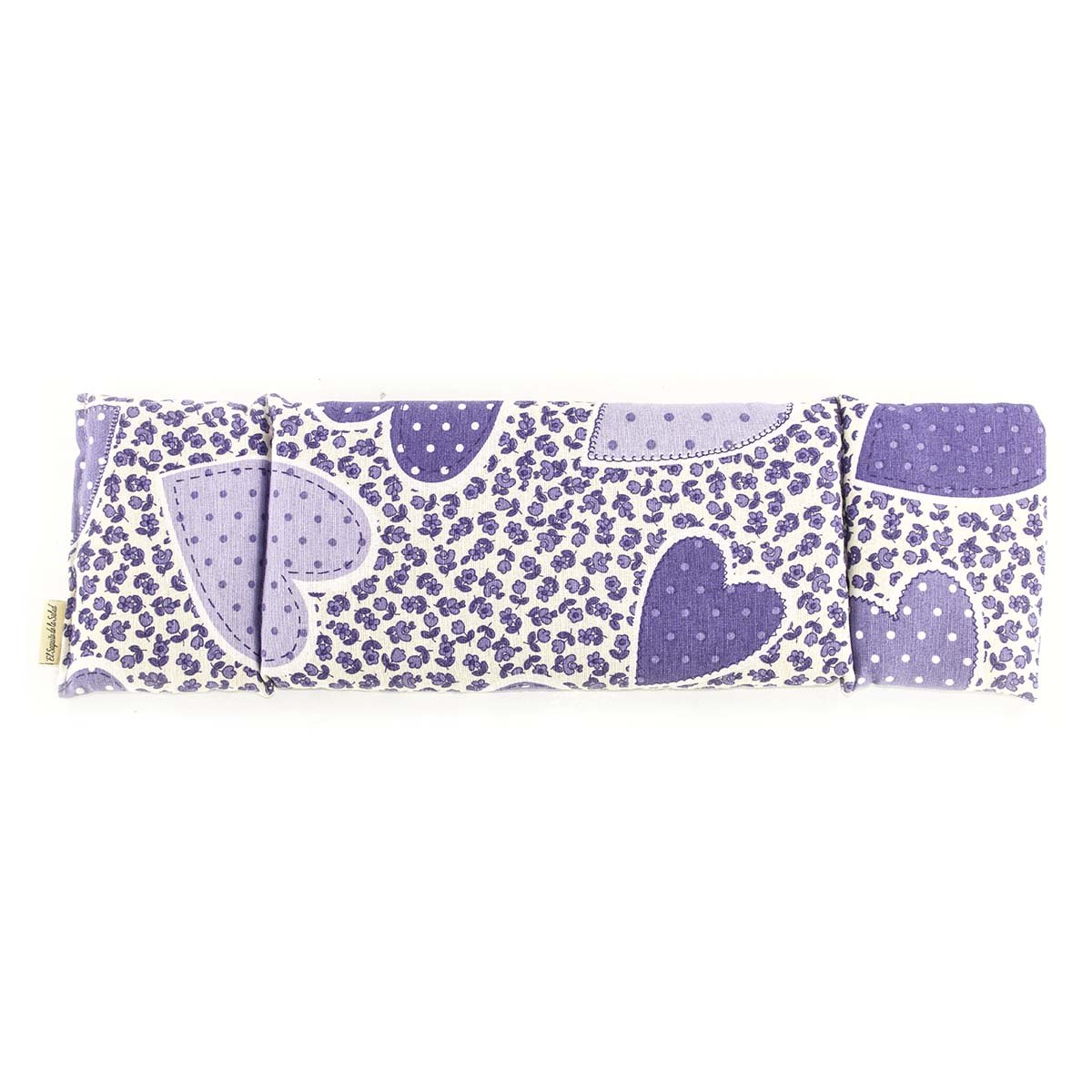 Seed bag with Lavender multi-coloured fabric with lilac flowers pattern 23 cm Orange Blossom or Rosemary Aromatic heating pad