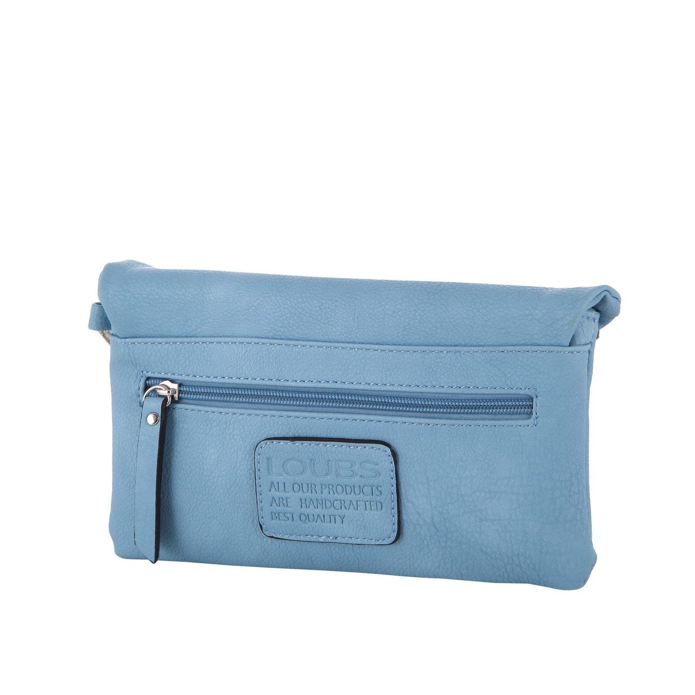 33b3f5ed59881 LOUBS Clutch Kunstleder Abendtasche MA-144 in verschiedenen Farben (blau)   Amazon.de  Schuhe   Handtaschen