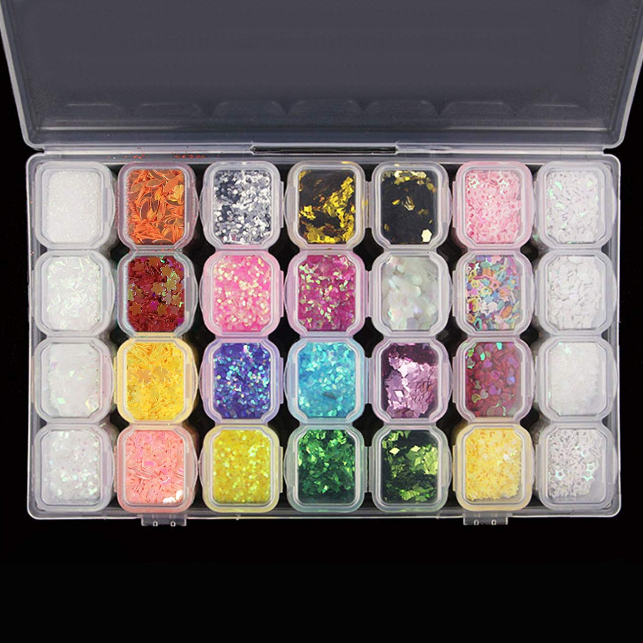 Open-Minded Glitter Powder Eyeshadow Makeup Sequin Diamond Colorful Glitter Gel Shiny Body Mermaid Festival Powder Pigment Makeup Cosmetics Bright And Translucent In Appearance Beauty Essentials