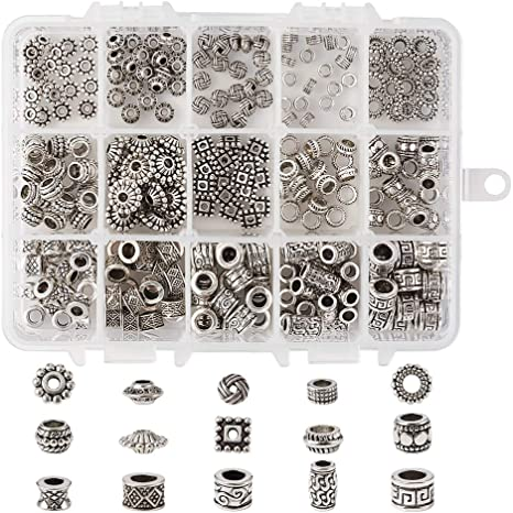 Free Ship 100PCS Tibetan Silver Square Spacer Beads For Jewelry Making 5x3mm