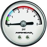 Airhead Pressure Gauge, White/Black (AHPG-1)