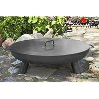 Feuerschale CookKing Bali XXL silber ✔ Deckel ✔ rund ✔ tragbar
