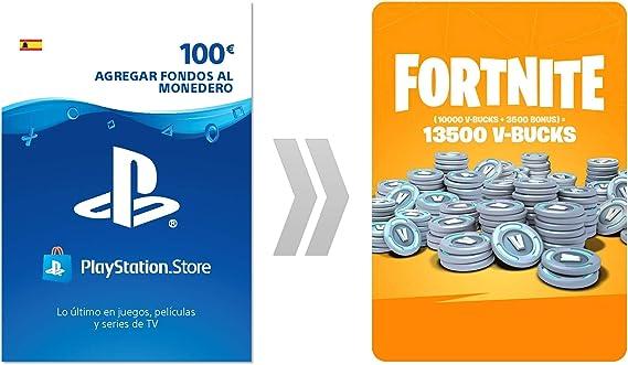PSN Credito para Fortnite 13500 V-Bucks | Código de descarga PS4 - Cuenta española: Amazon.es: Videojuegos