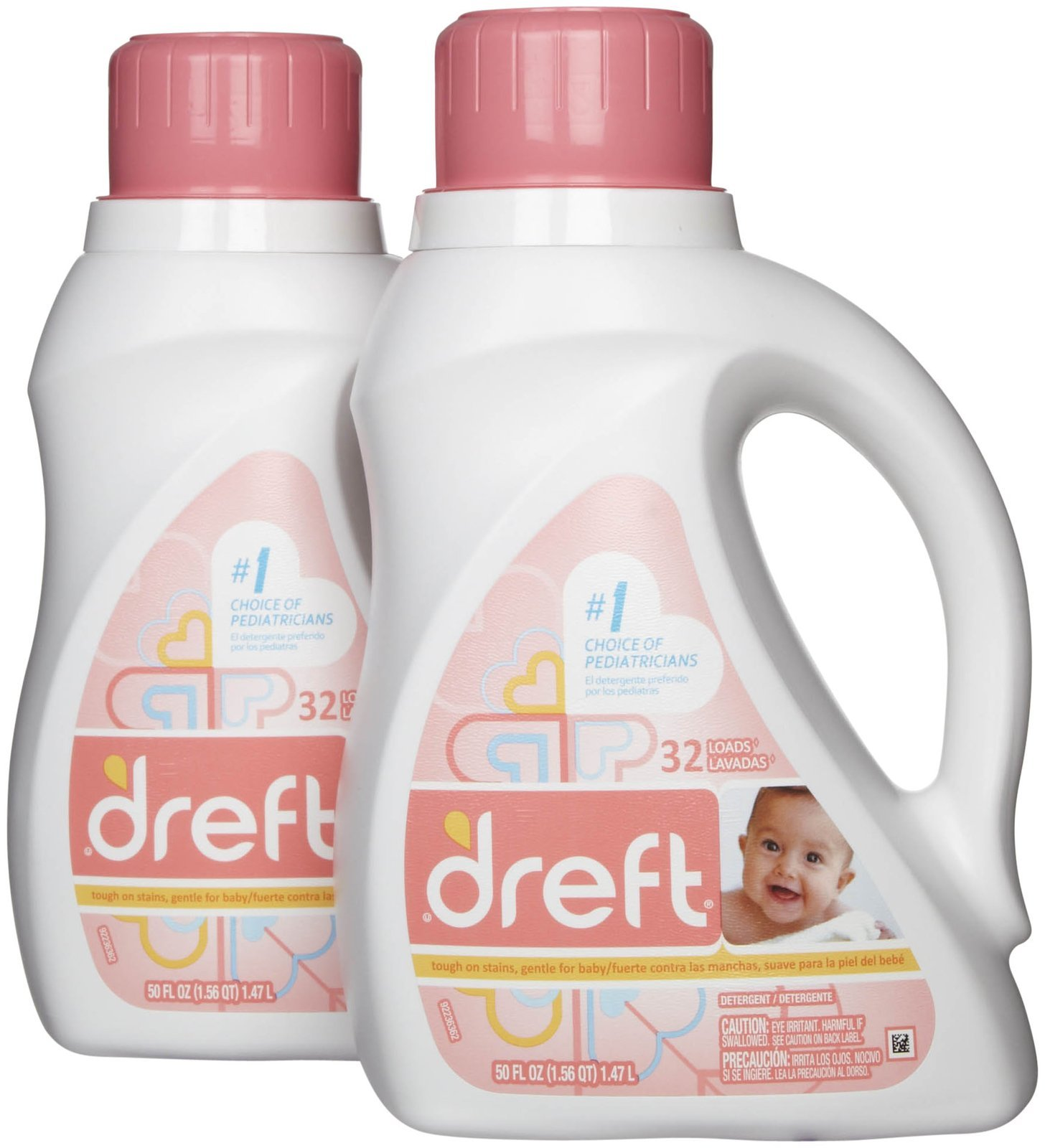 Dreft Baby Laundry Detergent - 50 fl oz - 2 pk