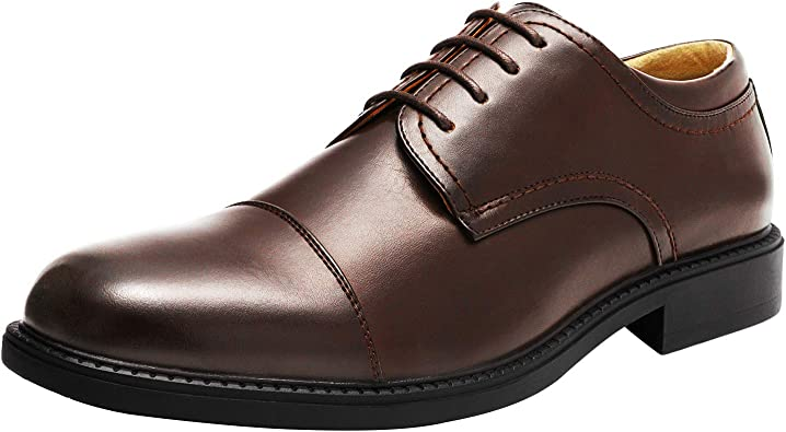DREAM PAIRS Bruno Marc Mens Dress Shoes Classic Lace-up Formal Oxford