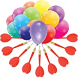 Gamie Dart Balloon Game for Kids Jumbo Fun Set includes 144 dart Balloons & 11 Plastic Darts with Copper Tips, Exciting Outdoor Game for Children & Adults, Best Carnival, Birthday Party & Backyard Fun