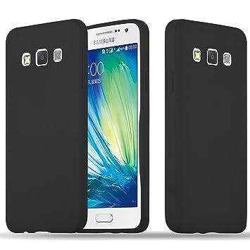 Cadorabo Funda para Samsung Galaxy A3 2015 en Candy Negro – Cubierta Proteccíon de Silicona TPU Delgada e Flexible con Antichoque – Gel Case Cover ...