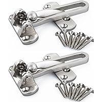 2 x roestvrijstalen deurbeveiliging veiligheidsgesp deurwak, deurketting, deurkrukketting met krasbescherming…