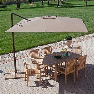 Treasure Garden 8.5-ft. Square Offset Patio Umbrella