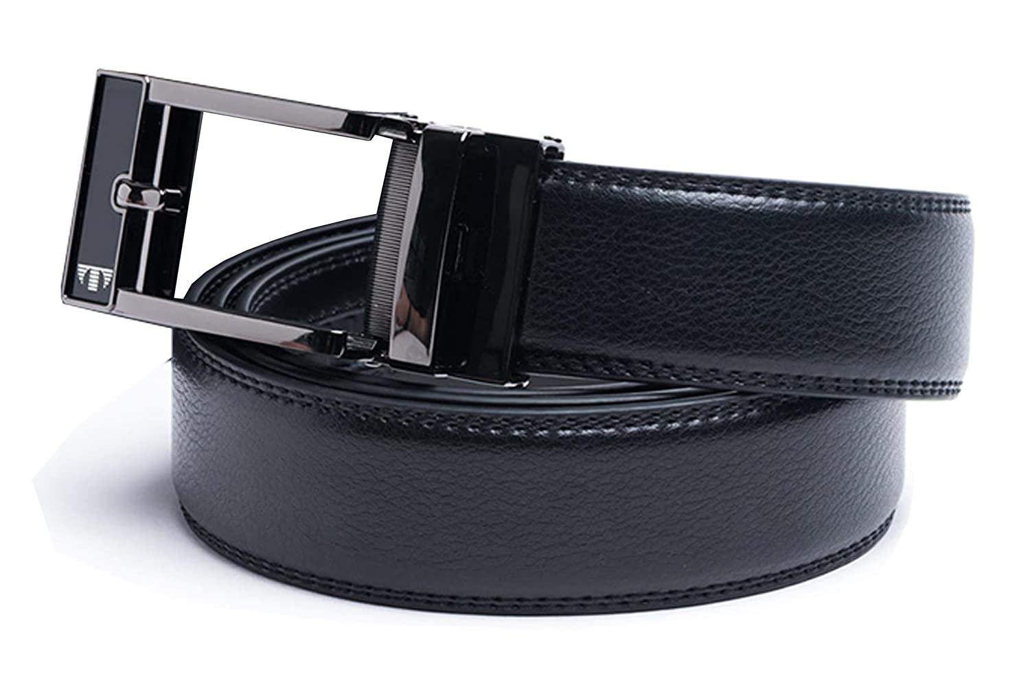 36//42//47 Waist Tocco Toscano Genuine Cow Grain Black Mens Dress Belt