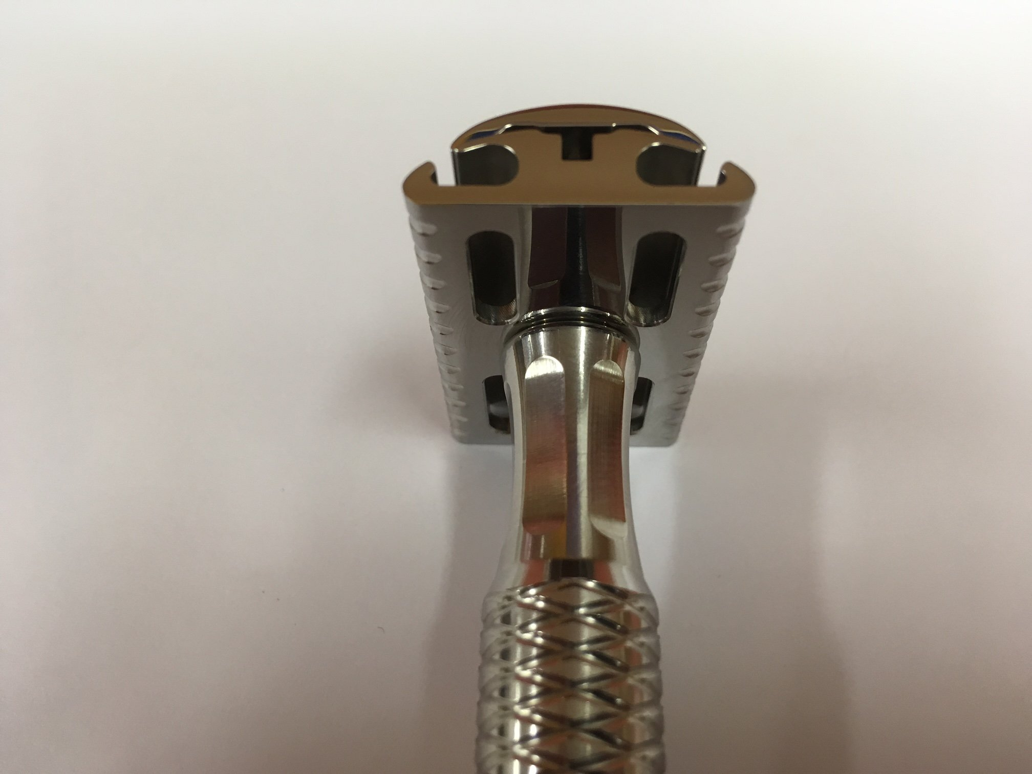 Stainless Steel Safety Razor with Stand by Timeless Razor