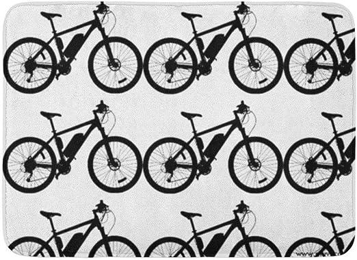 LiminiAOS Alfombra de baño Diversión Bicicleta Silueta Baño ...
