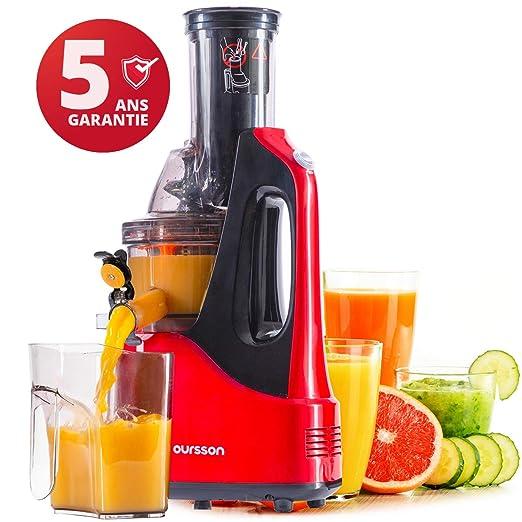 Oursson Extractor de zumo de frutas y verduras Vitality, Motor de ...