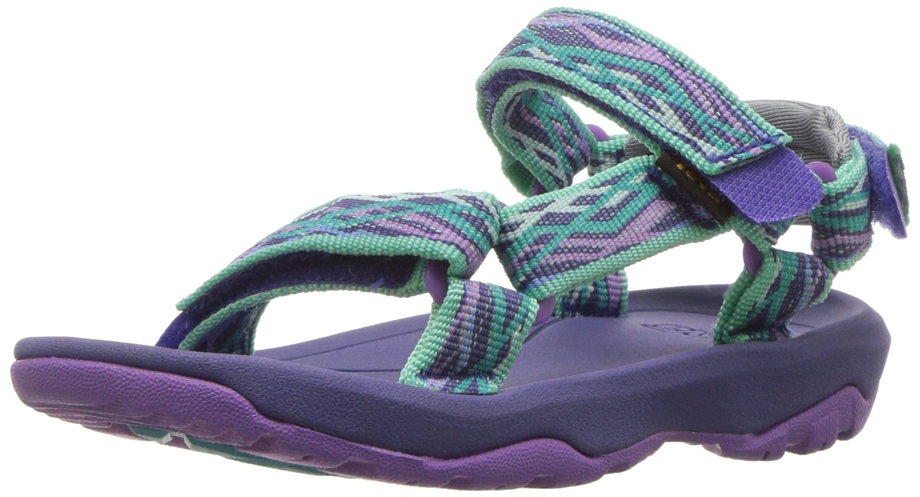 Teva Girls' T Hurricane XLT 2 Sport Sandal, Delmar Sea Glass/Purple, 10 M US Toddler