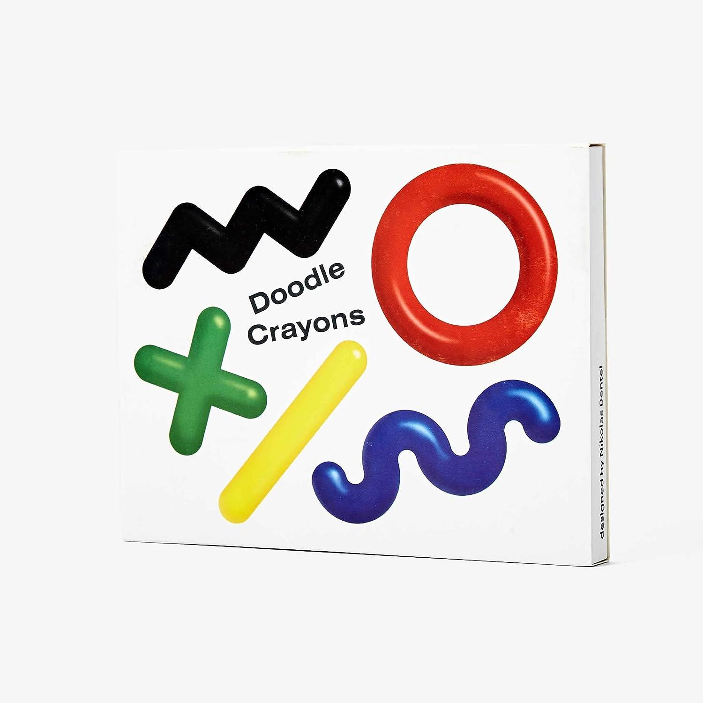 Wax Painting Tool Areaware Doodle Crayons Nikolas Bentel 5 Colour Set