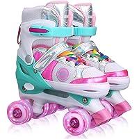Deals on Kemi Adjustable Roller Skates w/Light up Wheels