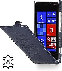 StilGut Ultraslim, housse exclusive de cuir véritable pour le Nokia Lumia 920, bleu marine