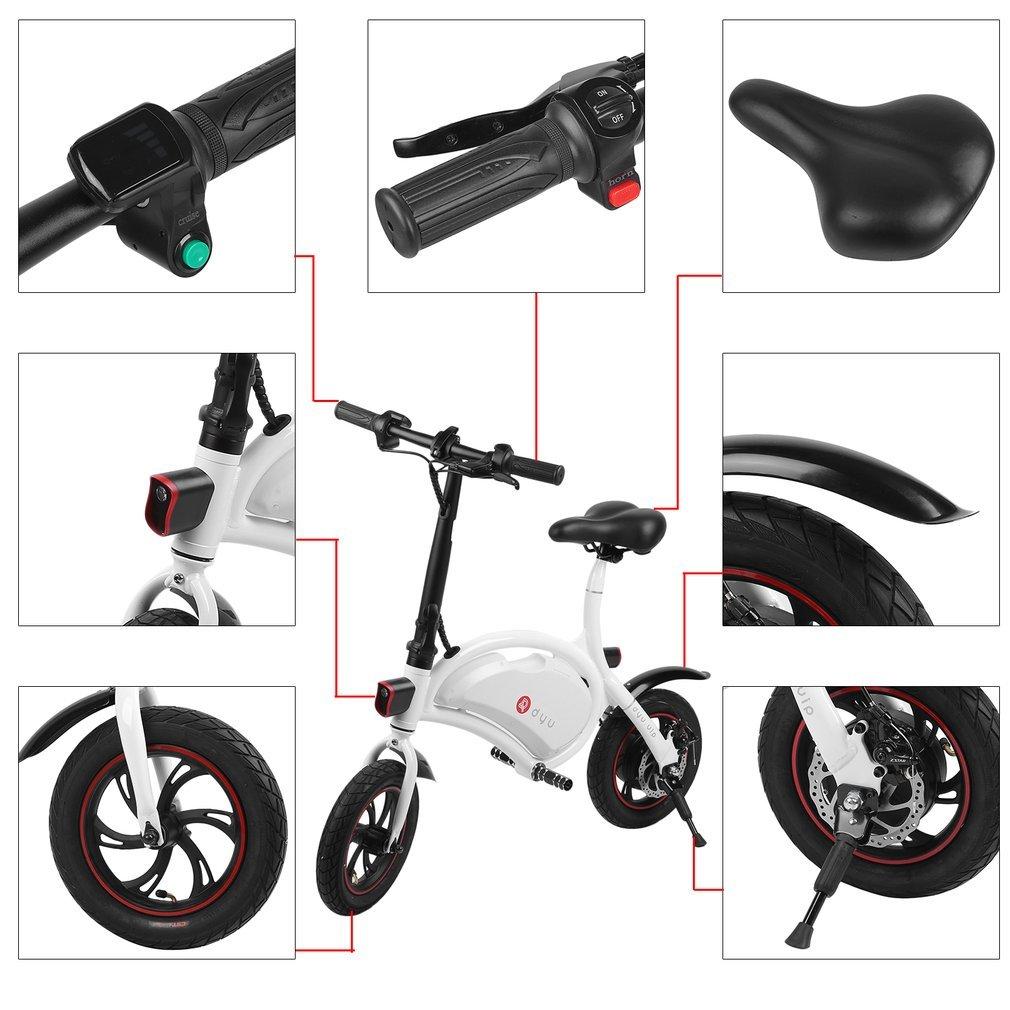 Bicicleta Eléctrica Plegable, ruedas de 12