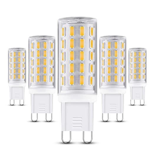 Bombilla LED G9, 5 W, no regulable, base G9, equivalente a 50
