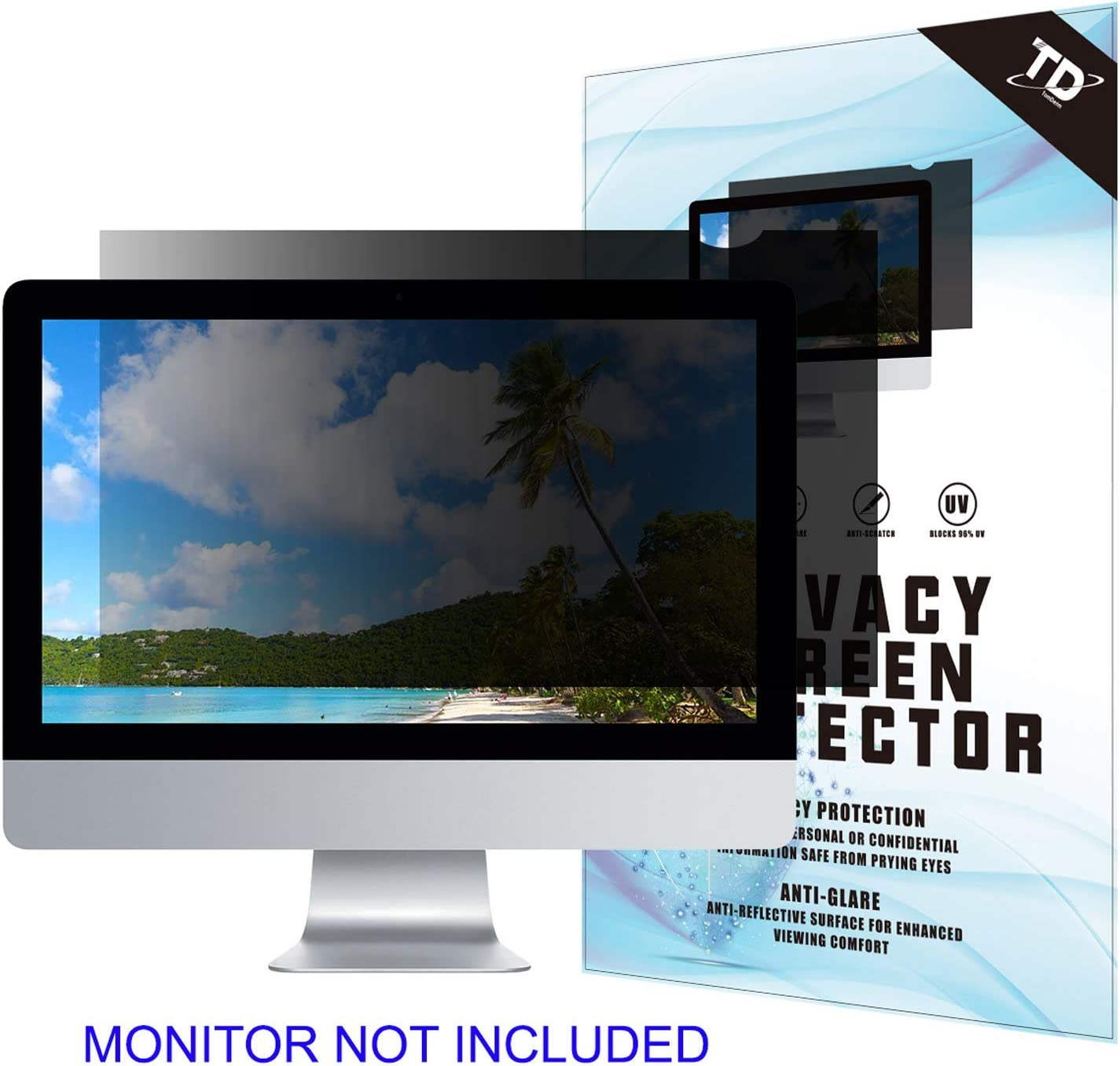 19''W Inch Privacy Screen Filter for Desktop Computer Widescreen Monitor - Anti-Glare, Blocks 96% UV,Anti-Scratch with 16:10 Aspect Ratio