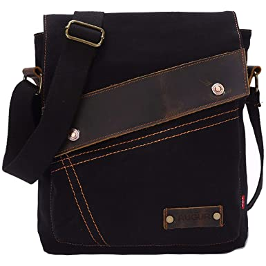 35f6374b541 Sechunk Messenger bags, Vintage Small Canvas Shoulder Crossbody Purse (Black )