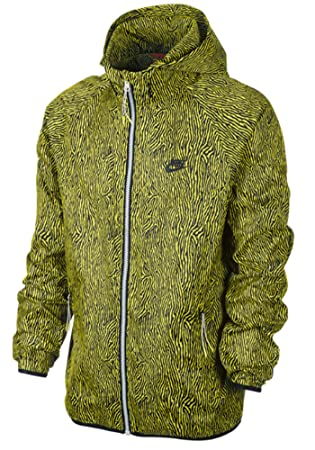 1e167e760e8a Nike Mens Glow in the Dark Windrunner Packable Jacket Yellow Black   Amazon.co.uk  Sports   Outdoors