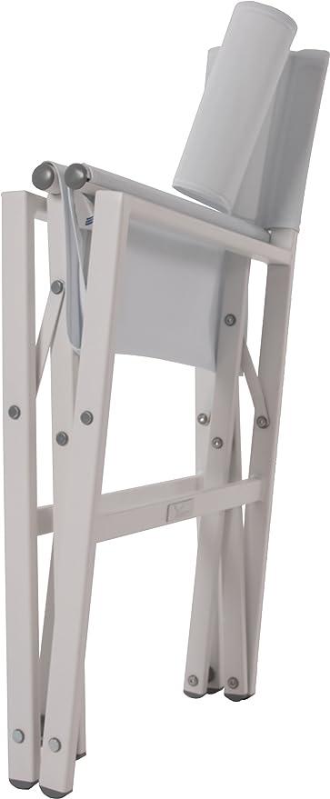 Vivere stuc-wh Studio - Silla plegable de aluminio, color ...