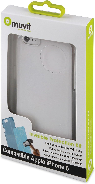 Muvit MUPAK0165 - Pack de carcasa y protector de pantalla para Apple iPhone 6, transparente: Amazon.es: Electrónica