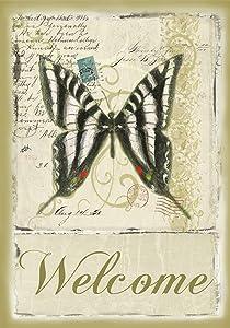Toland Home Garden 119486 Butterfly Par Avion 12.5 x 18 Inch Decorative, Garden Flag (12.5