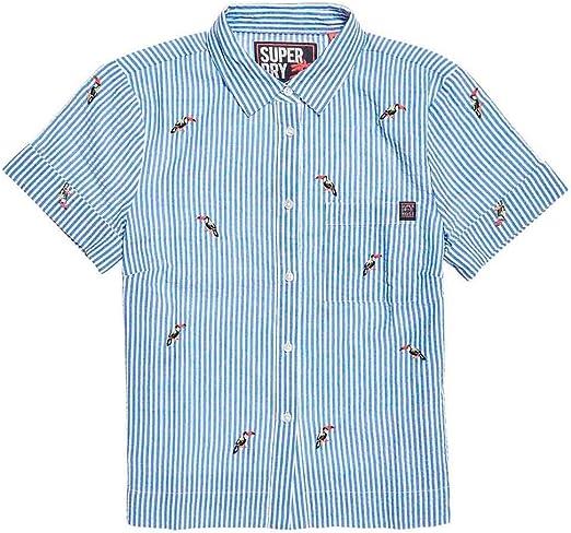 Superdry Kayla Cropped Boxy Camiseta Mujer Blue/White Stripe M: Amazon.es: Ropa y accesorios