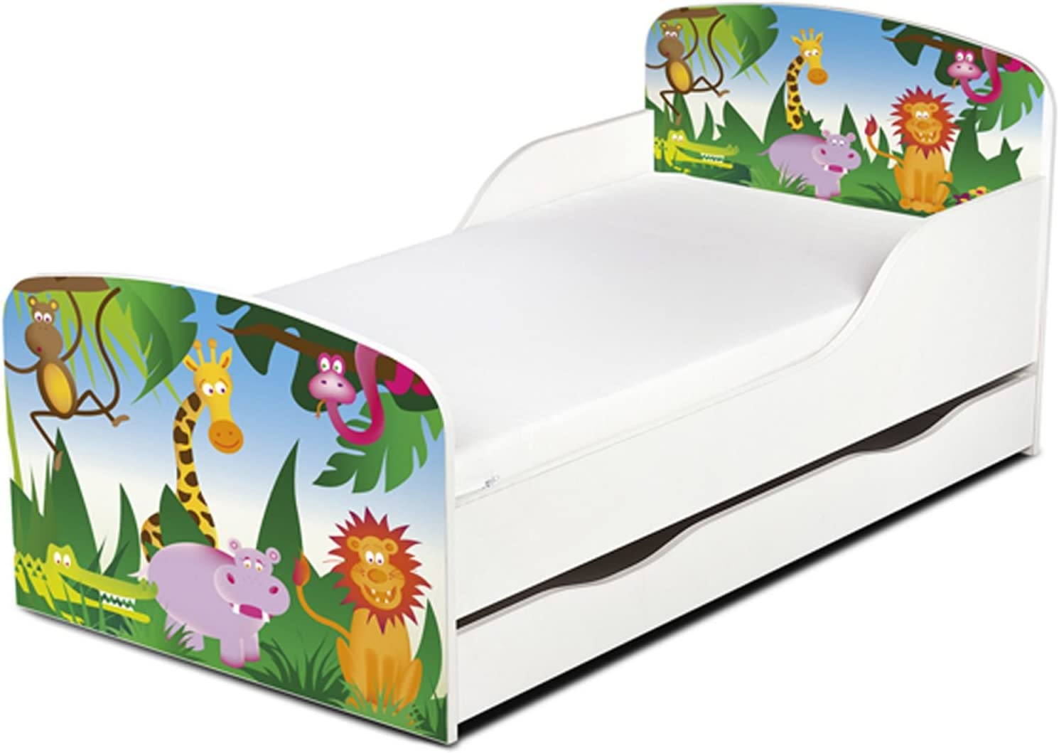 Price Right Home Jungle Design MDF Toddler Bed With Storage