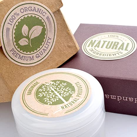 Regalo pegatinas/etiquetas para productos hecho a mano Natural orgánico pegatinas 5sheet 30 piezas