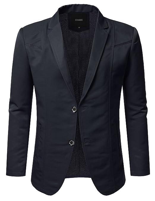 IDARBI Mens Slim Fit Casual Buttoned Blazer Suit Jacket