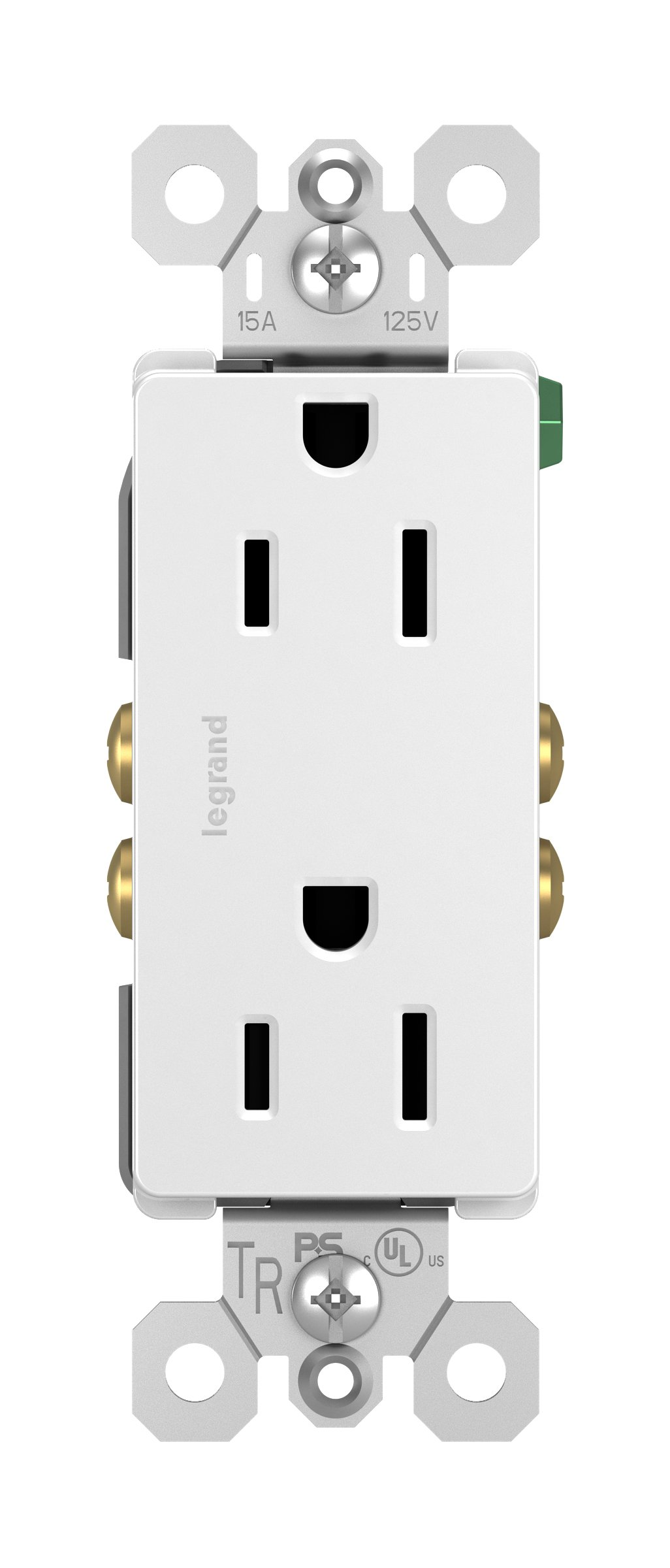 Legrand - Pass & Seymour radiant 885TRWCP7 Tamper-Resistant 15 Amp Duplex Outlet, 10-Pack, White