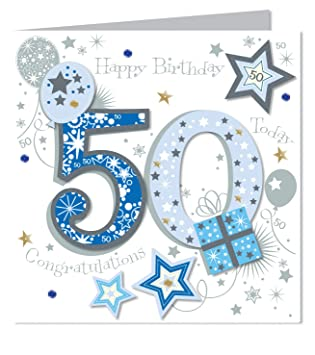 Large luxury handmade 50th birthday card male amazon large luxury handmade 50th birthday card male bookmarktalkfo Image collections