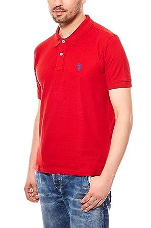 US Polo Association - Camiseta Deportiva - para Hombre Rojo M ...