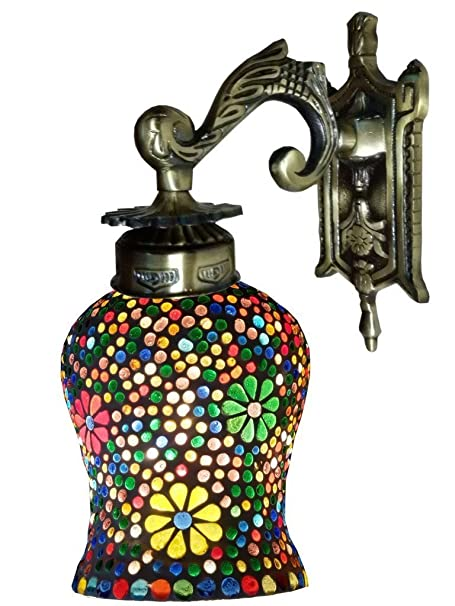 Weldecor Antiqua Brasso Nightangle Lamp Wall Lamp (30 cm, Multi-Colour) Wall Lamps & Sconces at amazon