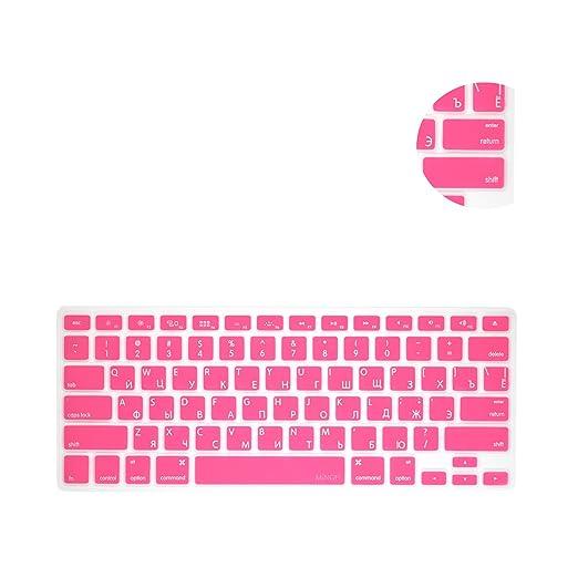 """2 opinioni per MiNGFi russo Copritastiera silicone coperchio della tastiera per MacBook Pro 13"""""""