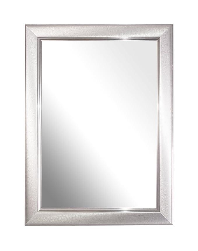Spiegel Rahmen, gebürstet klein silber A4 Zertifikat, Single: Amazon ...