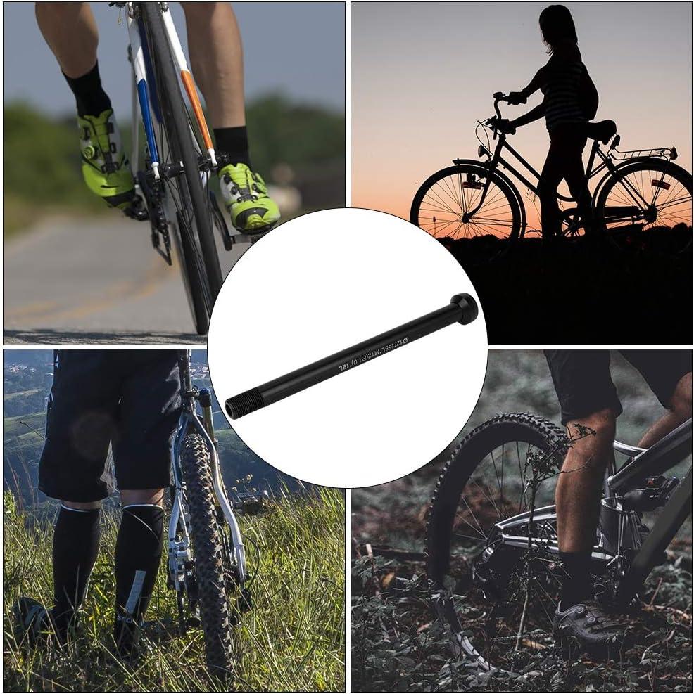 Outbit Bike Thru Axle-Bicycle Rear Fork Thru Axle Skewer Bike Repair Reemplazo para 142 12 Thread 1.0
