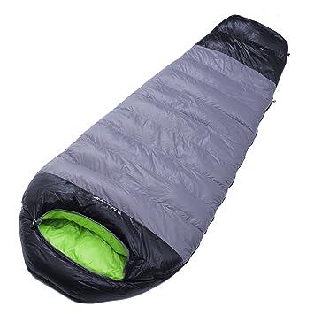 Saco de dormir momia plumas de ganso para camping Agua erdicht fülling: 1000 g Size: 210 * 80/50 cm.: Amazon.es: Deportes y aire libre