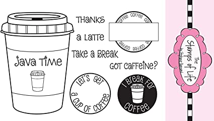 The Stamps of Life Coffee4Two Coffee Stamps for Card-Making and for Scrapbooking by Stephanie Barnard - Cute Sentiments