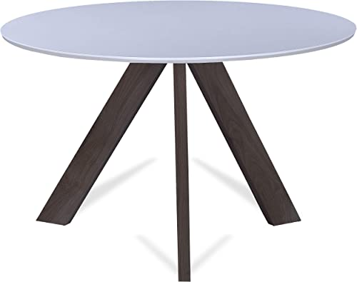 2xhome 47 Round Dining Table White Top