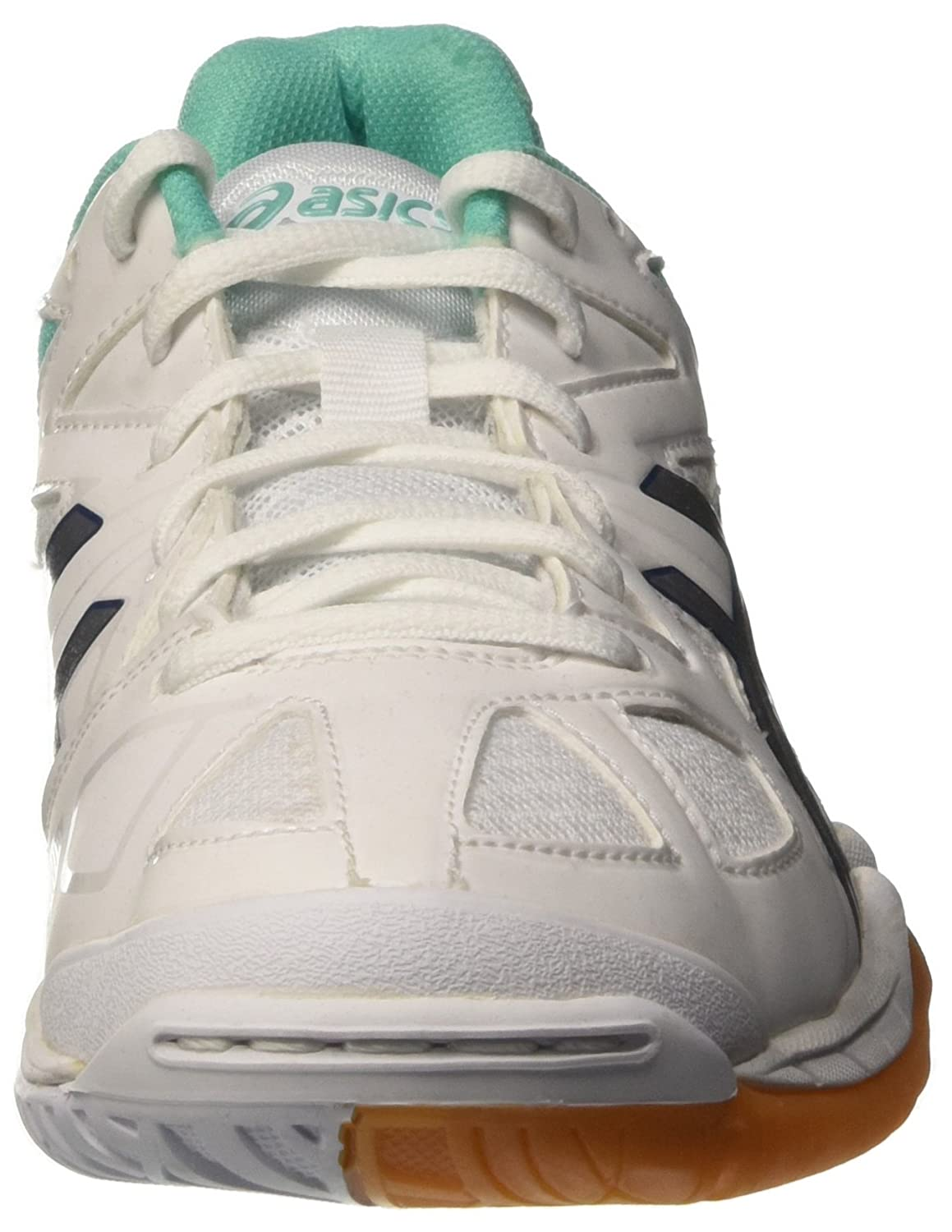 ASICS Damen Gel-Tactic Gymnastik Bianco (White/Cockatoo/Silver)